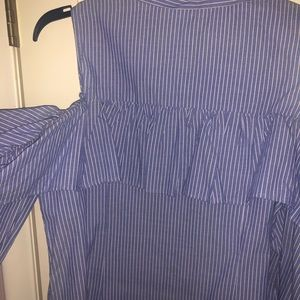 Off the shoulder button up blouse NWT